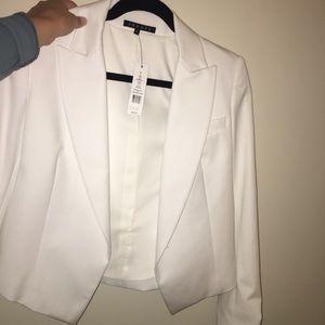 THEORY Joji Stretch Wool Open Jacket